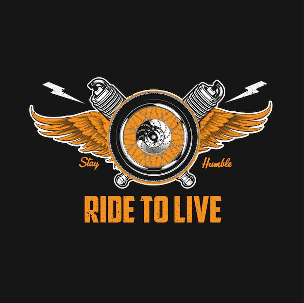 Motorcycle club wings illustration