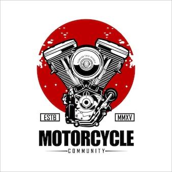 Шаблон логотипа сообщества мотоциклов