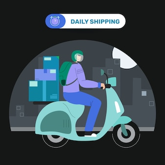 Motorcycle courier post delivery