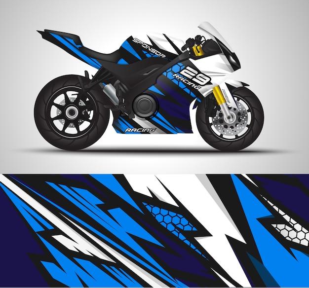 Мотоцикл наклейка наклейка и виниловые наклейки иллюстрации.