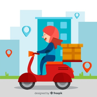 Motorcycle delivery,