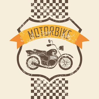 Motorcycle design over pink background vector illustration