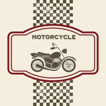 Motorcycle design over vintage background