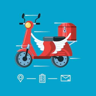 Motorcycle flying of logistic service