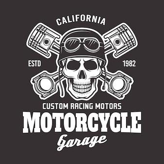 Мотоцикл гараж вектор байкер эмблема
