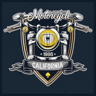 Motorcycle headlamp vector logo