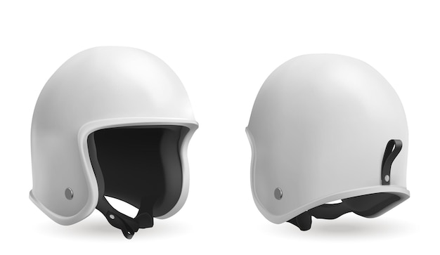 Motorcycle helmet in front and back view