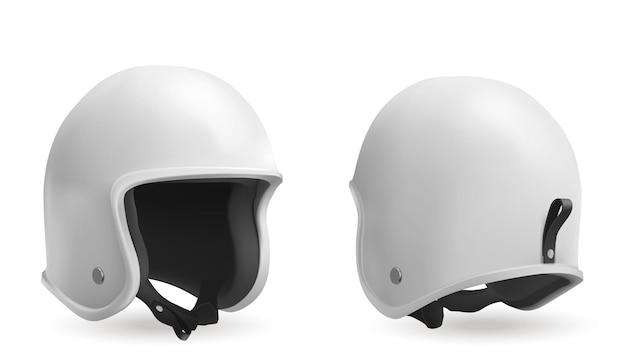 Casco del motociclo nella vista anteriore e posteriore