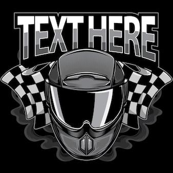 Логотип мотоциклетного шлема