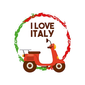 Motorcycle icon. italy culture design. vector graphic