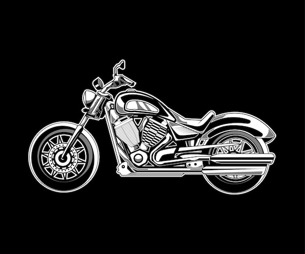 Motorcycle illustration on dark background