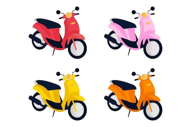 오토바이 삽화