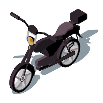 Motorcycle isometric color  illustration.