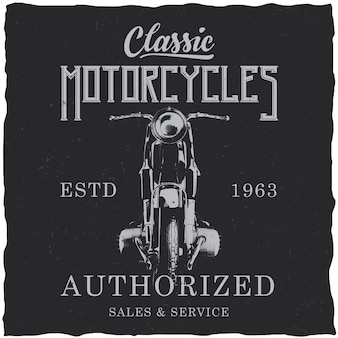 Дизайн этикетки мотоцикла