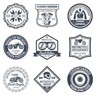 Motorcycle labels black