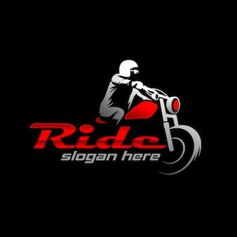 Мотоцикл логотип шаблон