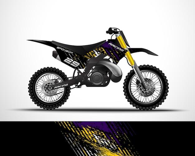 Мотоцикл, наклейка для мотокросса и виниловая наклейка.