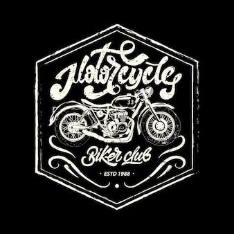 Motorcycle print, motorbike badge