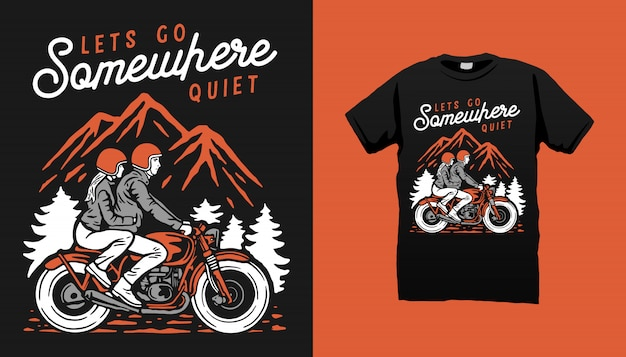Motorcycle rider tshirt design