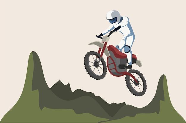 オートバイのスポーツイラスト