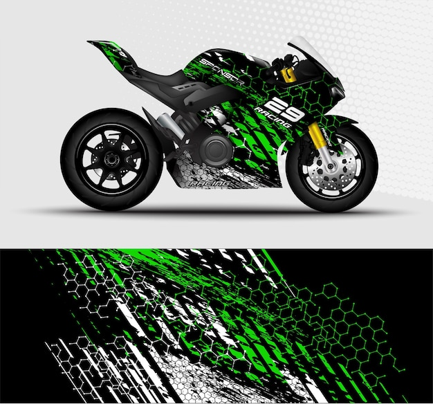 오토바이 sportbikes 랩 데칼 및 비닐 스티커 디자인 추상적 인 배경