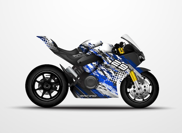 Motorcycle sportbikes wrap decal and vinyl sticker design.