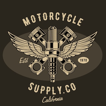 Motorcycle supply illustration