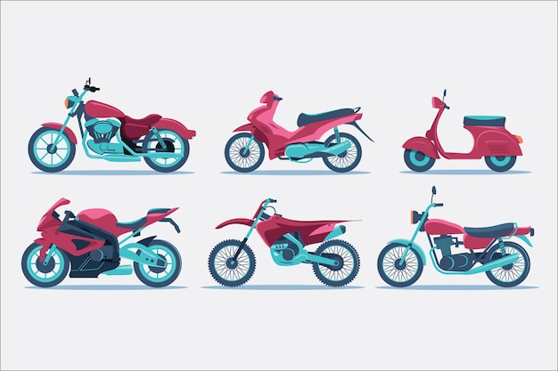 Motorcycle type illustration