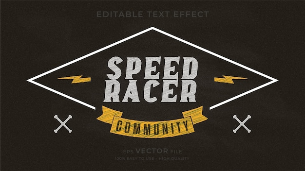 Классная доска для мотоциклов и редактируемый текстовый эффект