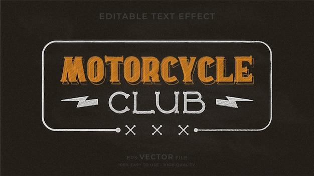 Motorcycle typography chalkboard premium editable text effect