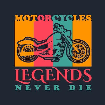 Motorcycle vintage vector for t shirt design