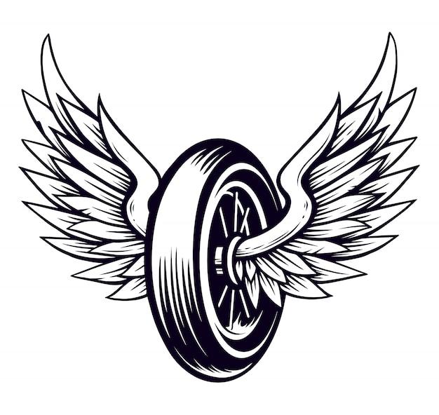 Колесо для мотоцикла с крыльями