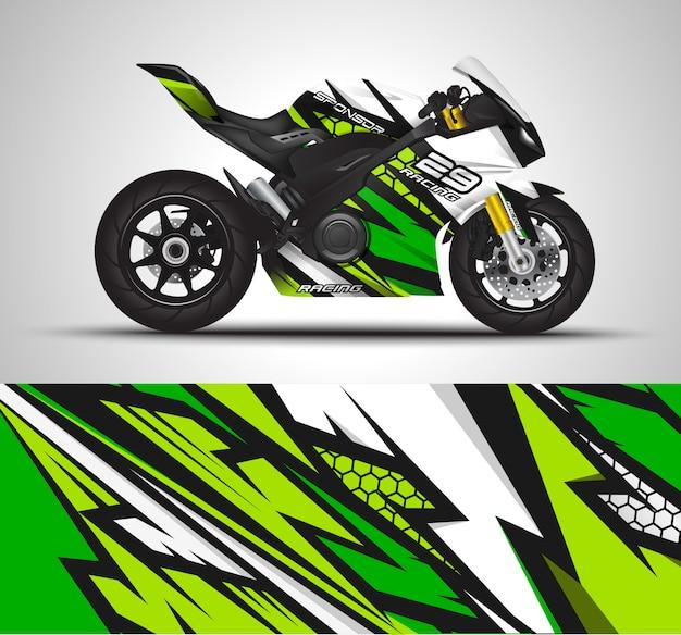 Мотоцикл обертка наклейка и виниловые наклейки иллюстрации.