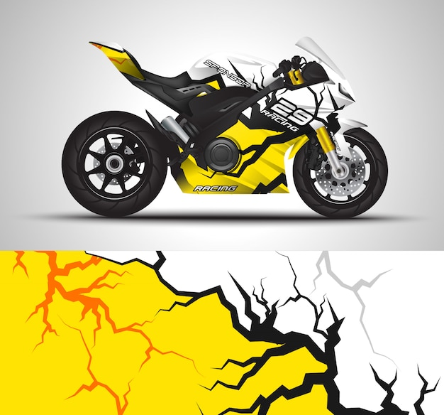 Motorcycle wrap decal and vinyl sticker
