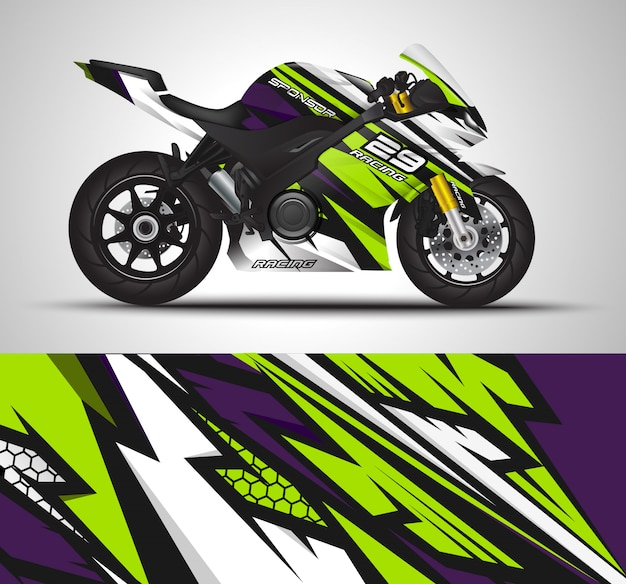 Motorcycle wrap decal and vinyl stickers.