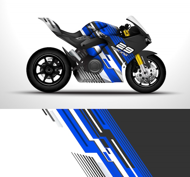 Motorcycle wrap design