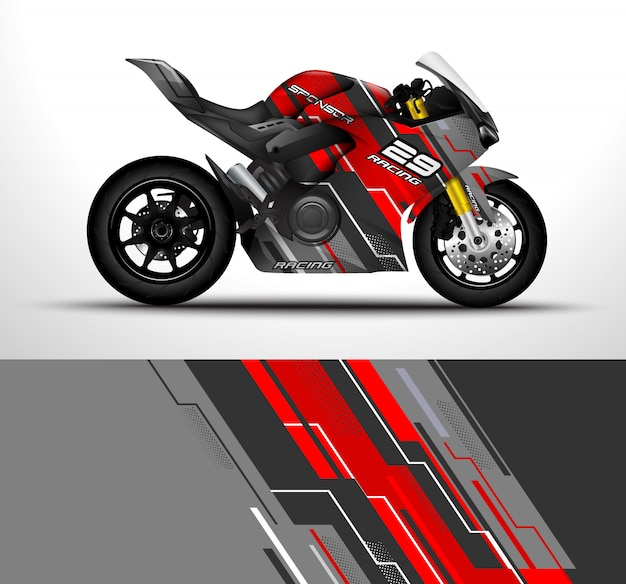 Motorcycle wrap design