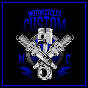 Motorcycles custom logo