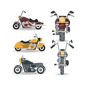 오토바이 아이콘 세트