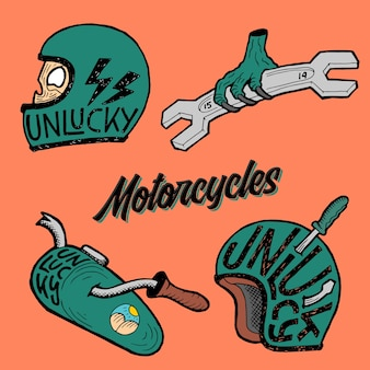 Motorcycles pack illustration