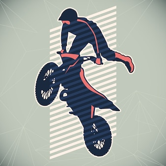 Motorcycling illustration