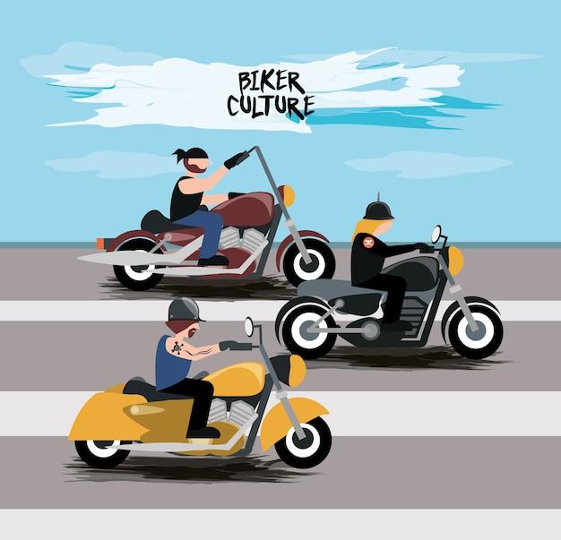 오토바이 아이콘을 운전하는 오토바이