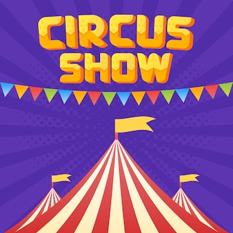 The moucup of circus poster