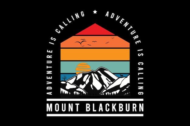 블랙번 산, 디자인 실트 복고풍 스타일