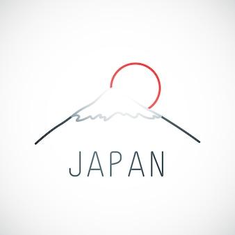 Гора фудзи киото и красное солнце