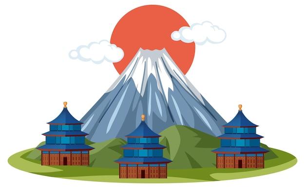 Punto di riferimento del monte fuji del giappone