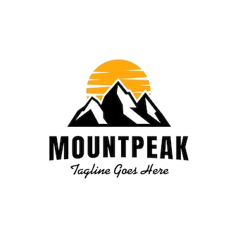 Гора пик горный пейзаж логотип