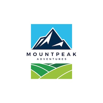 Mount peak mountain logo vector icon illustration