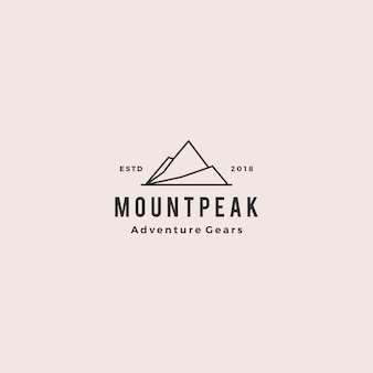 Mount peak mountain logo