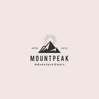 Mount peak mountain logo